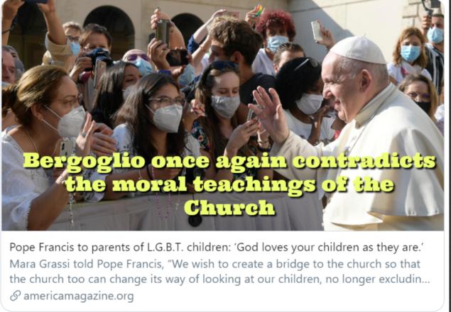 bergoglio contradice nuevamente las ensenanzas de la Iglesia